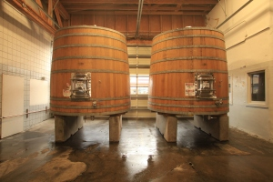 wooden Pinot Noir tanks in Oregon winery